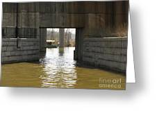 Richmond Floodwall Opening For Canal Greeting Card