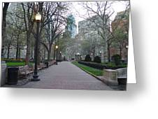 Rittenhouse Square In The Morning Greeting Card