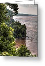 River Bluff View Greeting Card