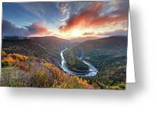 River Meander At Sunrise Greeting Card