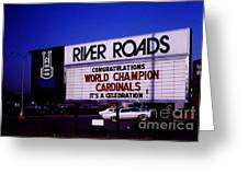River Roads Mall Marquee Sign  Greeting Card