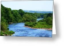 River Wye From Hay-on-wye Bridge Greeting Card