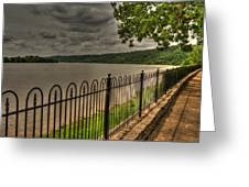 Riverside Walk Greeting Card