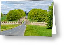 Road To Burghley House Greeting Card