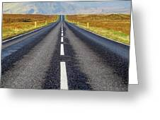 Road To Nowhere. Greeting Card