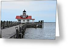 Roanoke Marshes Lighthouse Greeting Card