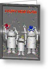 Robo-x9 New Years Celebration Greeting Card