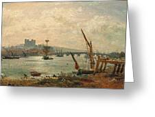 Rochester Cathedral And Castle Greeting Card