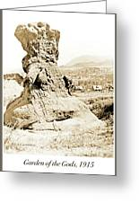 Rock Formation, Garden Of The Gods, 1915, Vintage Photograph Greeting Card
