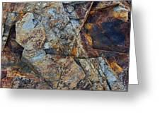 Rock Geometry Greeting Card by Julian Perry