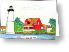 Rock Island Lighthouse Greeting Card
