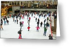 Rockefeller Center Skating Rink New York City Greeting Card