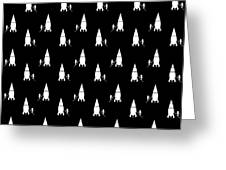 Rocket Scientist Wallpaper Greeting Card