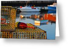 Rockport Ma Lobster Traps Greeting Card
