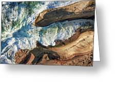 Rocks And Waves Greeting Card