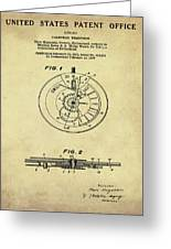 Rolex Watch Patent 1999 In Sepia Greeting Card