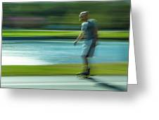 Rollerblading In Forest Park Greeting Card