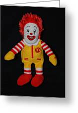 Ronald Mcdonald Greeting Card