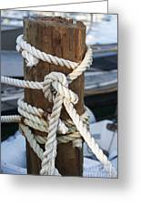 Rope Fence Fragment Greeting Card