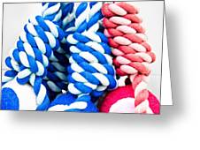 Rope Toys Greeting Card