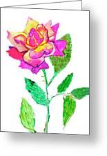 Rose, Watercolor Painting Greeting Card