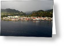 Roseau Dominica Greeting Card