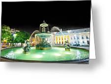 Rossio Square Lisbon Greeting Card