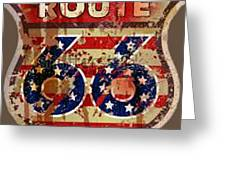 Route 66 T-shirt Greeting Card