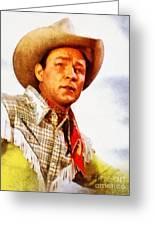 Roy Rogers, Vintage Western Legend Greeting Card