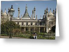 Royal Pavilion And Gardens In Brighton Greeting Card
