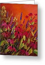 Rudbeckias And Lyatris Greeting Card