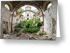 Ruins Of The Church Of St Wenceslas Greeting Card