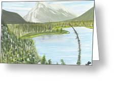 Rundle From Banff Greeting Card