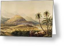 Rural Indian Landscape Greeting Card