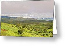Rural Landscape In Malawi Greeting Card