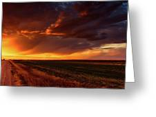 Rural Sunset Beauty Greeting Card