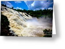 Rush Of Water I Greeting Card