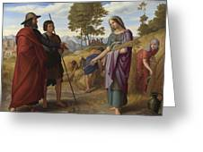 Ruth In Boazs Field Greeting Card