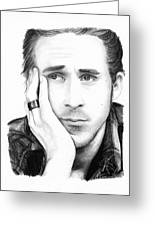 Ryan Gosling Greeting Card