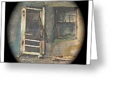 Sagging Door Lordsburg New Mexico 1968-2012 Greeting Card