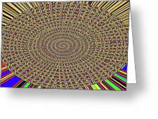 Saguaro Forest Abstract Greeting Card