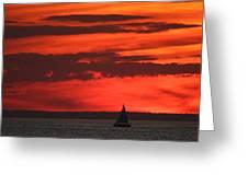 Sailboat Mount Sinai New York Greeting Card