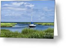 Sailboat Salt Marsh Greeting Card