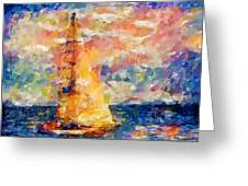 Sailing In The Sea Greeting Card
