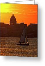 Sailing - Lake Monona - Madison - Wisconsin Greeting Card