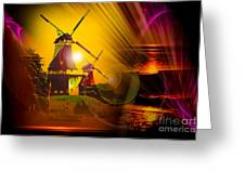Sailing Romance Windmills Greeting Card