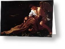 Saint Francis Of Assisi In Ecstasy Greeting Card
