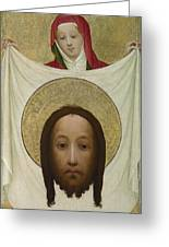 Saint Veronica With The Sudarium Greeting Card