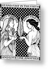 Saints Perpetua And Felicity Greeting Card