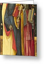 Saints Peter And Jerome Greeting Card
